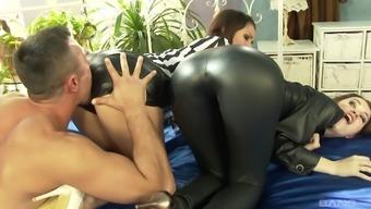 Fucking a pair of alluring divas Samia Duarte and her good friend Misha Traverse