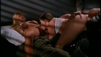 Amazing panel sexual intercourse with Aspen Acess as well as other divas in uniform
