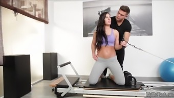 Athina Absolutely adore likes to experience a realistic pilates workout