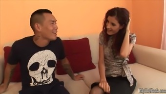 Leanna Cute is typically a brunette whos of course getting her totally shaved