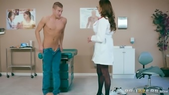 Ariella Ferrera is a large breasted medical professional that likes driving a penis