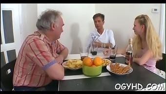 Cute youthful attractiveness fucked by old guy