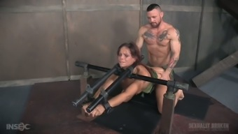Two different sex-hungry warriors fucks treated busty milf Syren De Mer