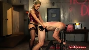 Cherie DeVille pegging submissive stud
