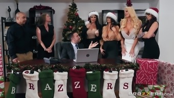 Monique Alexander and Avingumas Addams take part in merry orgy