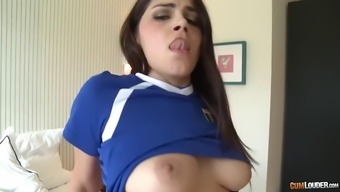 hairy italian language pussy of huge valentina nappi is drilled by major the spanish language elevate