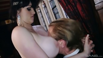 Stunning whore Jess West knows how to be a great cock teaser during FFM