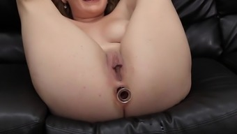 Naughty babe Kaitlyn can take a whole cock in her tiny cunt