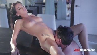 Perky boobs brunette makes love to hard dick in erotic video