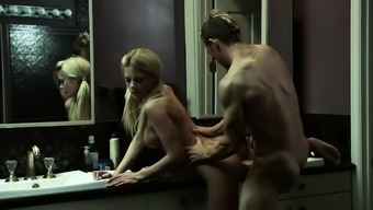 Riley Steele gets step dads cock in the bathroom