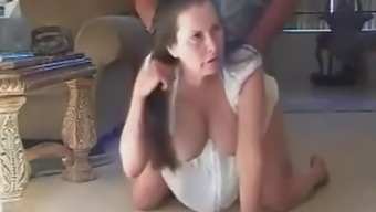 Mommy fucked by son on the floor