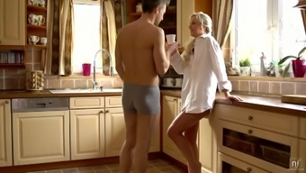 Beautiful wife Dido Angel is having sex fun with her husband in the kitchen