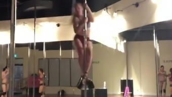 NN Teen on a STRIPPERS POLE - Part 2