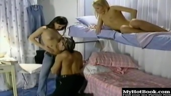 Evening Archangel and Jo May are bisexuals that massage one anothers partially shaved muffs