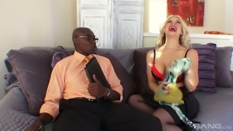 Harlot wife Sarah Vandella is fucked by BBC within husband's nose