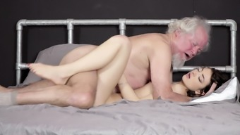 Grand father fucks lovely younger youngster pussy oral creampie