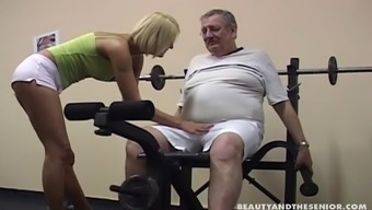 Young girl fucked by her old gymnasium coach