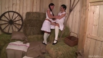 Athina Not only enjoy but her lesbian original honey making out each other's cunts