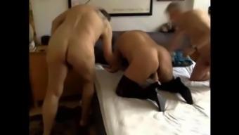 bisex thresome by using grandpa