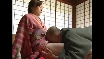 Dark Far eastern date gets her cherry delighted through a attractive old man