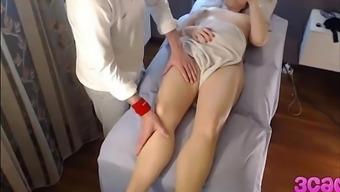 Hidden Cam at Massage Parlour Anal passage Play