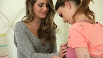 Rattling wonderful lesbo Kimmy Granger is expert at managing soppy pussy right
