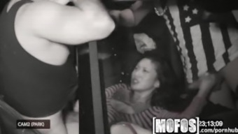Mofos - Threesome by using Alina LI is snagged on digicam