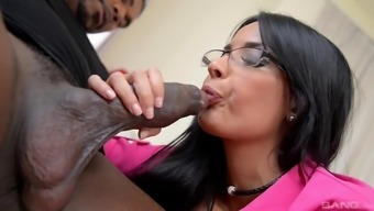 Hot Anissa Kate likes a black cock more than anything else