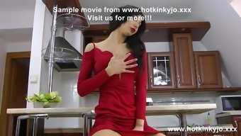 Hotkinkyjo dry gown anal passage fisting