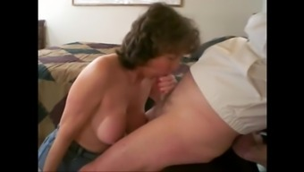 Spunk on granny s titties