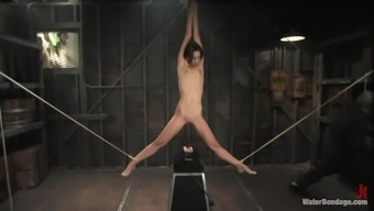 slender moaner tied up and gagged