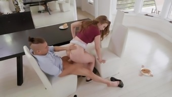 Busty Lena Paul bends for her steo son to fuck her