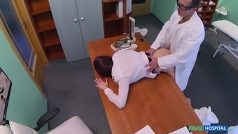 Morgan in Horny girl gets creampied by doctor - FakeHospital