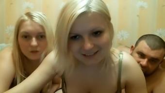 Hot threesome toward the web camera illustrate