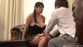 Japanese people dame Haruna Hana two fingers her cunt in front of her friend