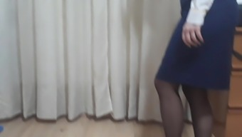 My wife is flight attendant, she's getting ready to work (2)