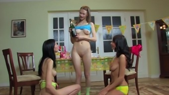 Girls night out ends with Ezma and her friends enjoying a threesome