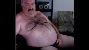 Old fat gay with a small cock lowers cum on camera