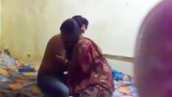 Indian auntie with young lover