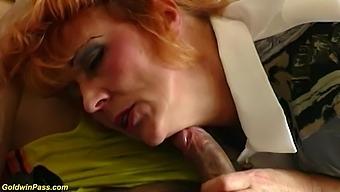 redhead hairy mom rough big cock toyboy banged