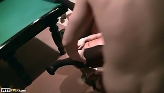 Sexy college teacher gets naked for money