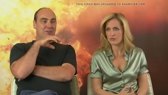 Gillian anderson rock hards nipples during interview