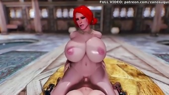 Big tits 3d hentai futa animation triss the witcher