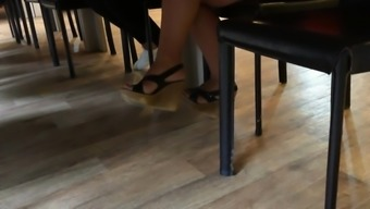 Candid feet and heels at work #22