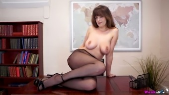 Zealous alone and turned on bitch Kate Anne wanna tease her slit a bit
