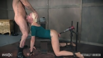 Fuck machines and a big dick make Lorelei Lee cry in bondage session