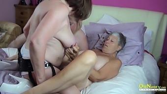 OldNannY Three Busty Mature Lesbians Fucking Toys