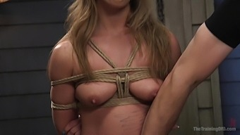 Horny blonde April Brookes enjoys to suck a dick before hard sex