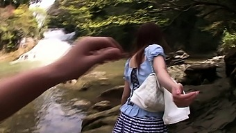 Japanese double blowjob outdoor