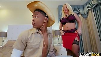 Balls deep interracial sex with busty blonde model Alura TNT Jenson